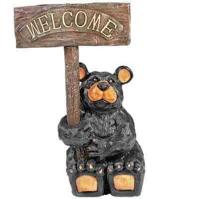 Welcome Bear Garden Statue