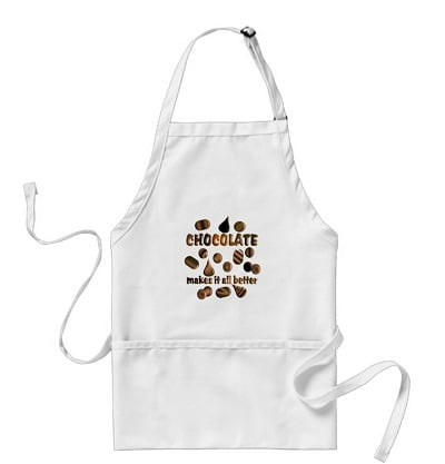 Chocolate Themed Adult Apron