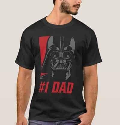 Darth Vader #1 Dad Stencil Portrait T-Shirt