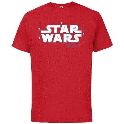 Star Wars Blueprint Logo Cotton T-Shirt for Adults – Customized