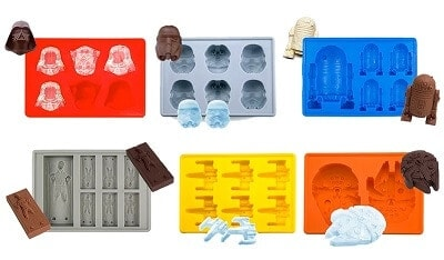 Star Wars Silicone 6 Piece Ice Cube Tray Set