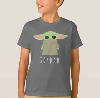 The Child Personalized Star Wars T-Shirt for Kids