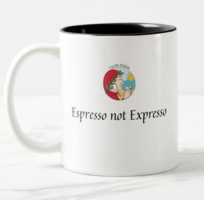 Dante's Espresso not Expresso mug