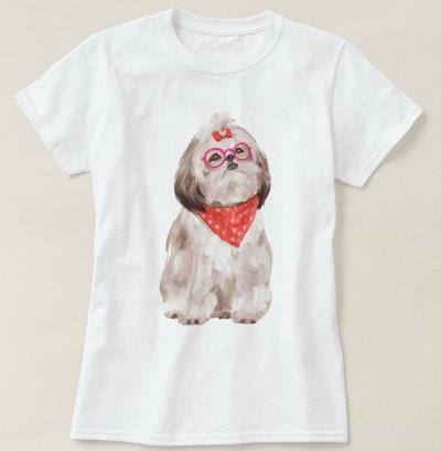 Hipster Shih Tzu T-Shirt