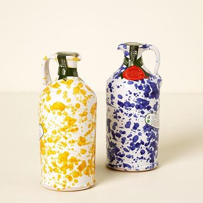 Italian Olive Oil in Hand-Painted Ceramic Carafe