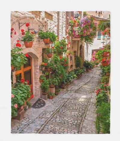 Tuscany Italy Fleece Blanket