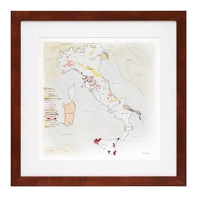 Wine Regions of Italy Print