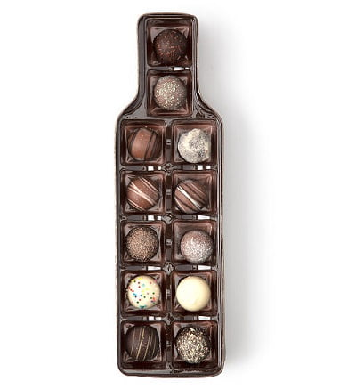 Bottle-of-Wine Chocolate Truffles Box