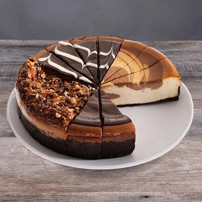 Chocolate Lover's Cheesecake Sampler