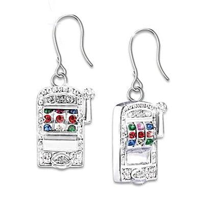 Ladies Jackpot Earrings With Swarovski Crystals
