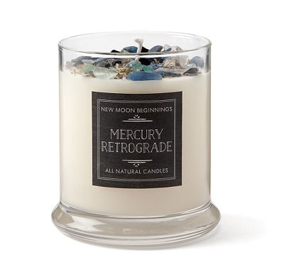 Mercury Retrograde Protection Candle - Good Luck Gifts