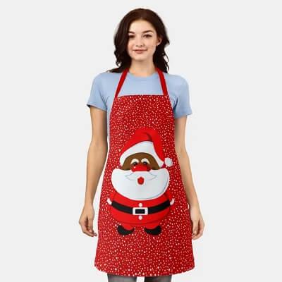 African American Santa Claus Christmas Apron