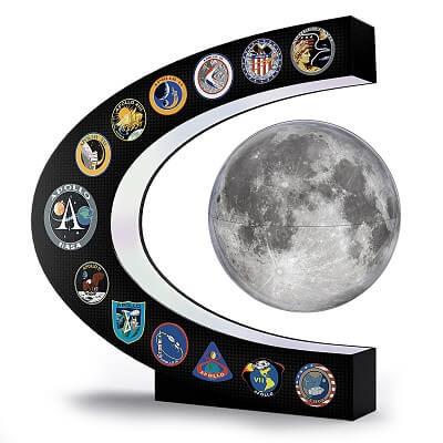 Apollo Missions Illuminated Levitating Moon Sculpture