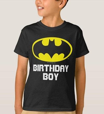 Batman Birthday Boy Personalized T-shirt