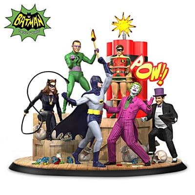 Batman and Robin Vs. Arch Villains Illuminated Sculpture