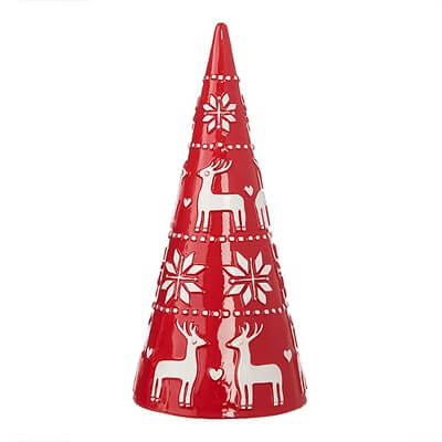 Ceramic Nordic Cone Tabletop Christmas Tree