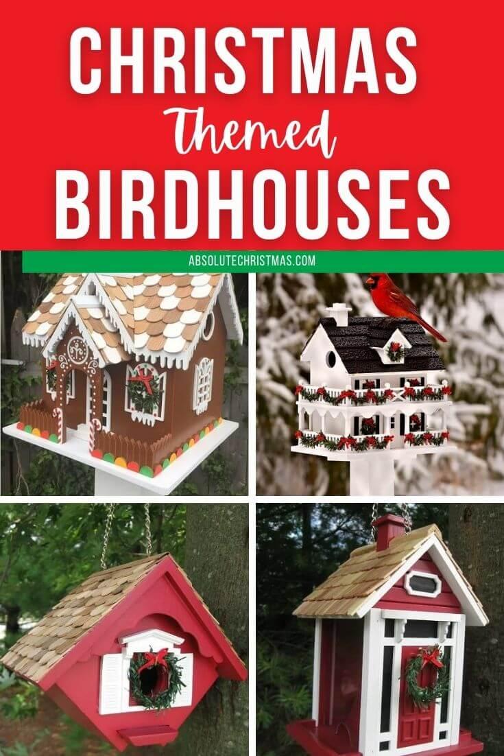 Christmas Themed Birdhouses