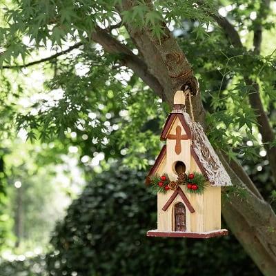 Church Christmas Birdhouse