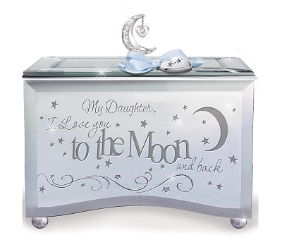 Daughter, I Love You To The Moon Personalized Music Box