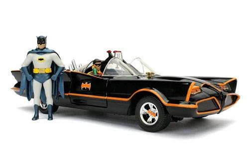 Die-Cast 1966 Batmobile with Batman and Robin