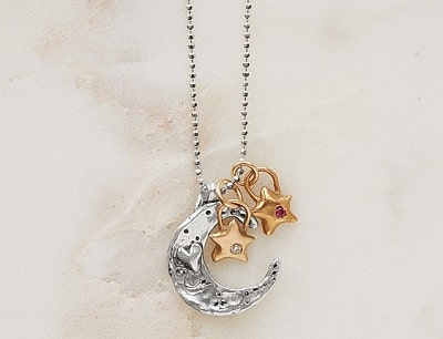Family Moon and Stars Necklace