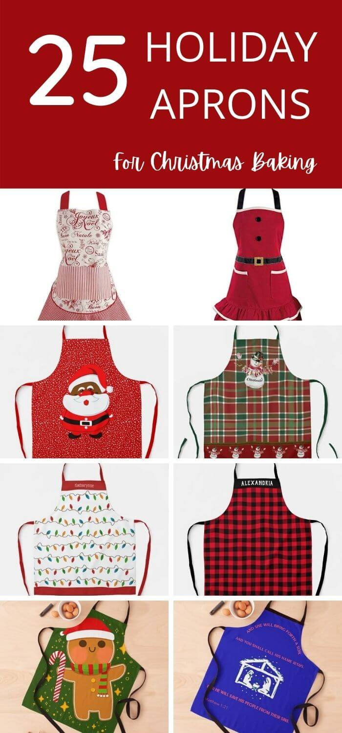 Festive Christmas Aprons For Holiday Baking