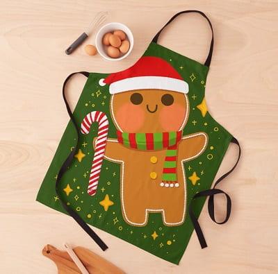 Gingerbread Man Christmas Aprons