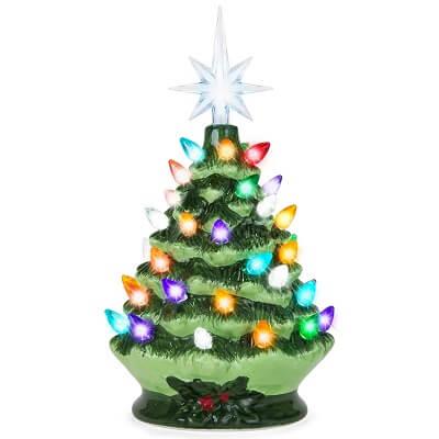 Hand Painted Ceramic Tabletop Christmas Tree