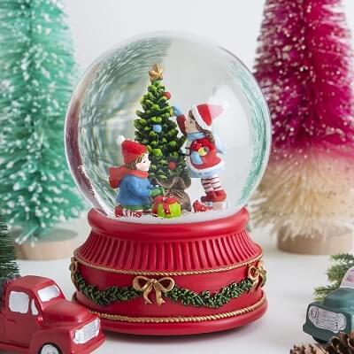 Kids Christmas Tree Snow Globe
