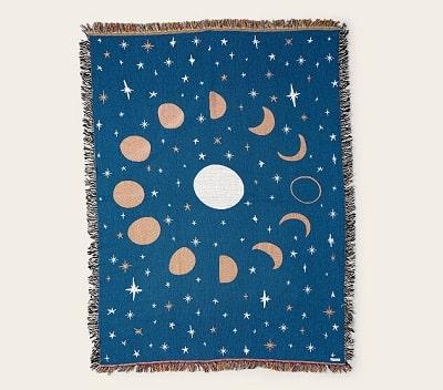 Moon Phase Throw Blanket