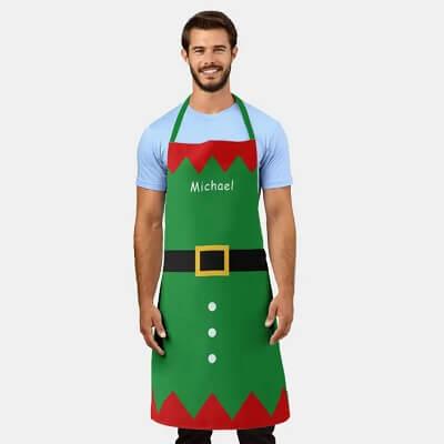 Personalized Christmas Elf Apron