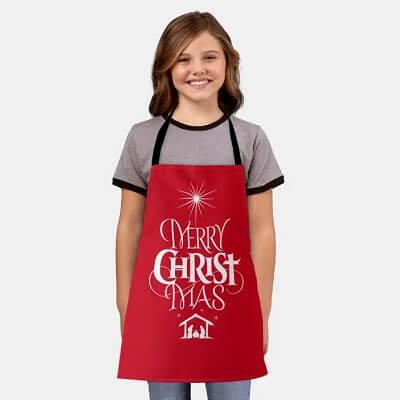 Religious Nativity Kids Christmas Apron