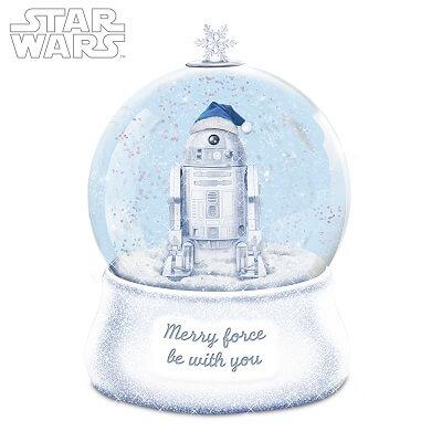 STAR WARS Illuminated R2-D2 Christmas Glitter Globe