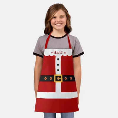 Santa Claus Personalized Kids Christmas Apron