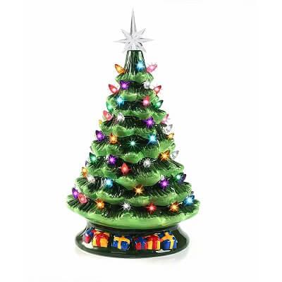 Tabletop Pre-lit Ceramic Christmas Tree