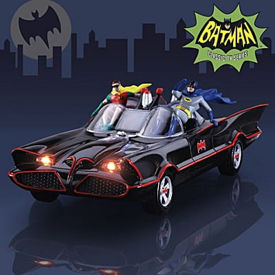 Vintage Batman Batmobile Sculpture With Lights And Music