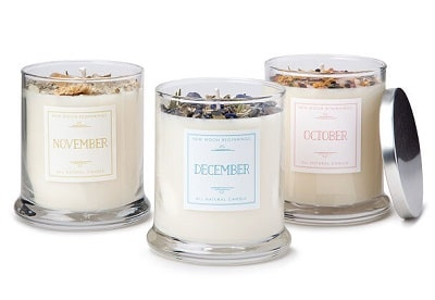Birth Month Gemstone & Flower Candle - Gift Ideas for the 20 something female