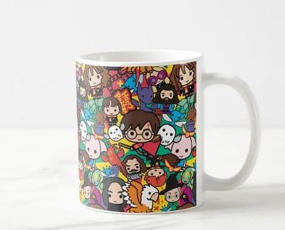 Cartoon Harry Potter Characters Coffee Mug