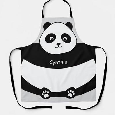 Cute Panda Face Funny All-Over Print Apron