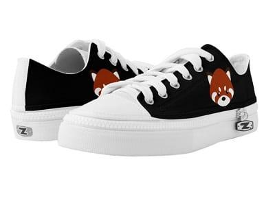 Cute Red Panda Low-Top Sneakers