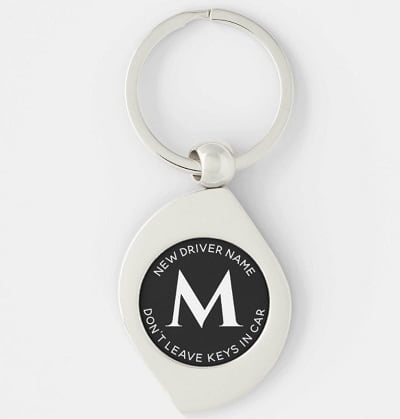 Don't Leave Keys in the Car Personalized Key Chain