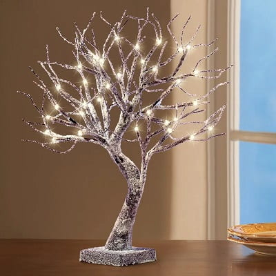 Frosted Tabletop Tree