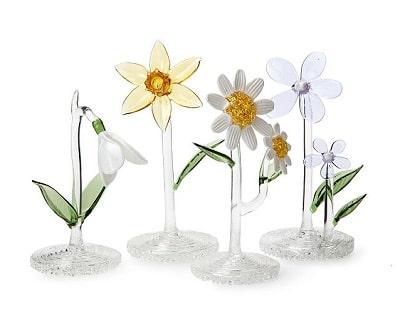 Handblown Glass Birth Month Flower
