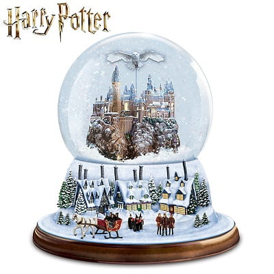 I'd Rather Stay At HOGWARTS Rotating Musical Christmas Glitter Globe