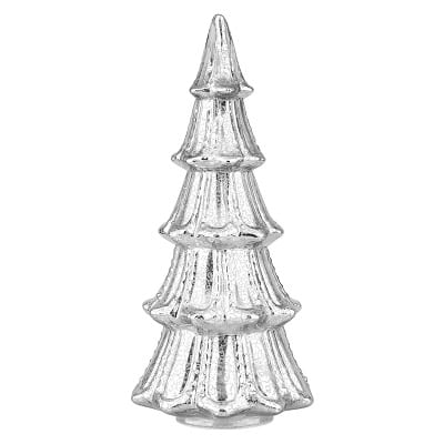 Lighted Faux Mercury Glass Christmas Tabletop Tree