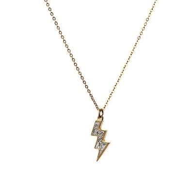 Lightning Bolt Raw Diamond Necklace