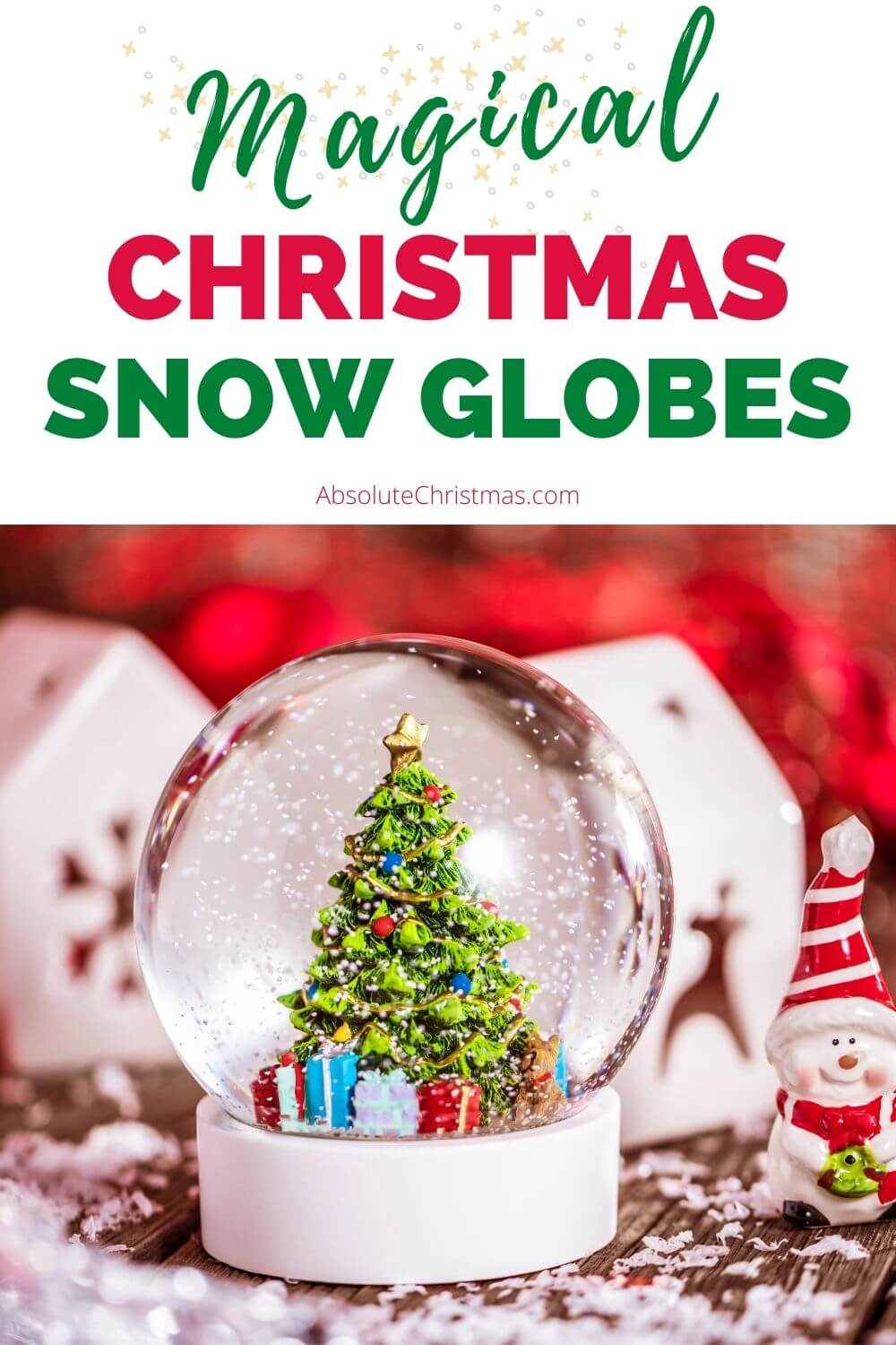 Magical Christmas Snow Globes with Music and Lights