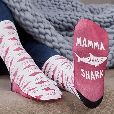 Mommy Shark Personalized Socks