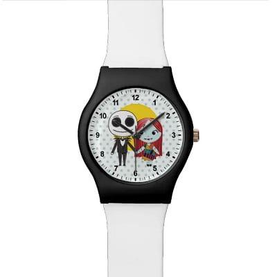 Nightmare Before Christmas Jack & Sally Emoji Wristwatch
