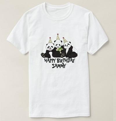 Panda Bear Happy Birthday T-Shirt